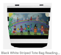 Click on link to view item on Etsy - https://www.etsy.com/listing/569358801/black-white-striped-tote-bag-reading-is?ref=listing-shop-header-3