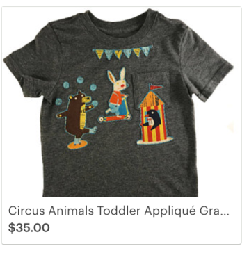 Click on the link to view item on Etsy - https://www.etsy.com/listing/546746888/circus-animals-toddler-applique-gray-t?ref=shop_home_active_6