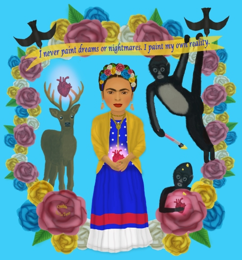 """I paint my own reality."" - Frida Kahlo"