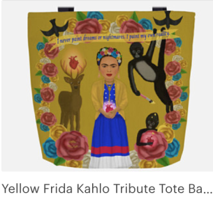 Click on link to view item on Etsy - https://www.etsy.com/listing/570336226/yellow-frida-kahlo-tribute-tote-bag-with?ref=shop_home_active_1