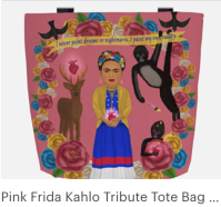 Click on link to view item on Etsy - https://www.etsy.com/listing/584133311/pink-frida-kahlo-tribute-tote-bag-with?ref=shop_home_active_3