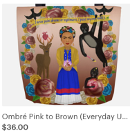 Click on link to view item on Etsy - https://www.etsy.com/listing/597754355/ombre-pink-to-brown-everyday-use-frida?ref=shop_home_active_4