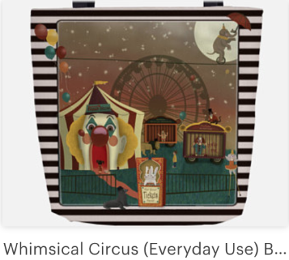 Click on link to view item on Etsy - https://www.etsy.com/listing/582378358/whimsical-circus-everyday-use-black?ref=shop_home_active_6